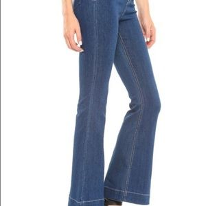 Mid Rise, Pull On Flare Jeans